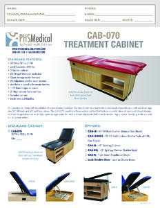 CAB-070 Treatment Cabinet Data Sheet