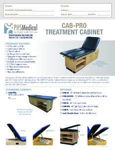 CAB-PRO PRO Treatment Cabinet Data Sheet