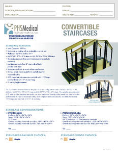 Convertible Staircases Data Sheet