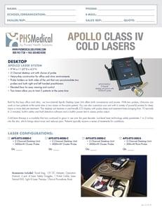 Desktop Laser System Data Sheet