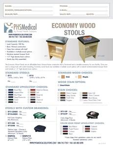 Economy Wood Stools Data Sheet