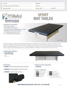 Sport Mat Table Data Sheet
