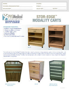 SMC-001 Stor-Edge Modality Cart Data Sheet