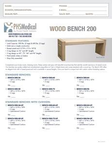 Wood Bench 200 Data Sheet
