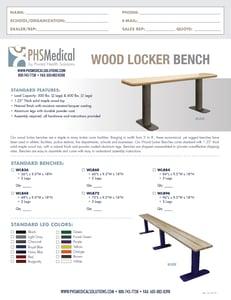 Wood Locker Bench Data Sheet