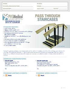 Pass Through Staircases Data Sheet