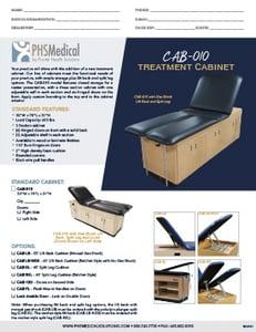 CAB-010 Treatment Cabinet Data Sheet