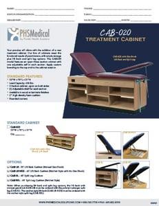 CAB-020 Treatment Cabinet Data Sheet