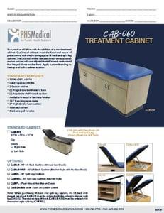CAB-060 Treatment Cabinet Data Sheet