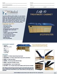 CAB-110 Treatment Cabinet Data Sheet