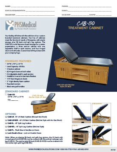 CAB-130 Treatment Cabinet Data Sheet