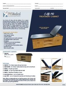 CAB-140 Treatment Cabinet Data Sheet