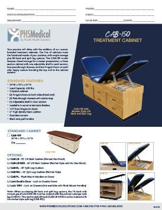 CAB-150 Treatment Cabinet Data Sheet