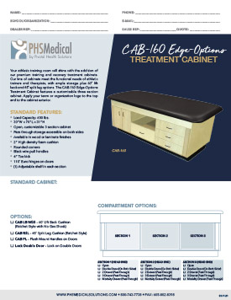 CAB-160 Edge Options Pass Through Treatment Cabinet Data Sheet