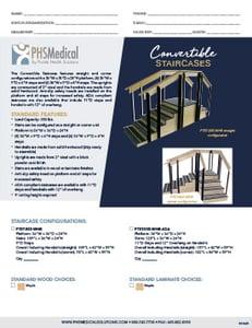 Convertible Staircases Data Sheet