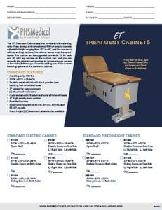 Electric Treatment Cabinet Data Sheet