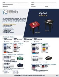 Metal Stools Data Sheet