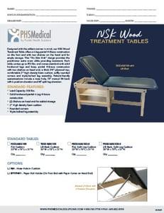 NSK Wood Treatment Table Data Sheet