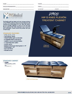 PT9081 Hip & Knee Flexion Treatment Cabinet Data Sheet