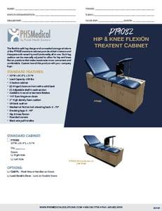 PT9082Hip & Knee Flexion Treatment Cabinet Data Sheet