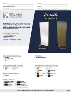 Portable Mirrors Data Sheet