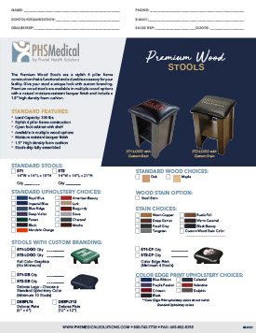Premium Wood Stools Data Sheet