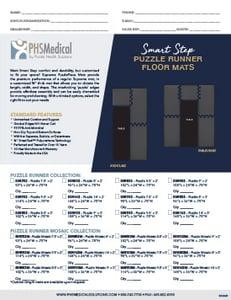 Smart Step Puzzle Runner Mat Data Sheet