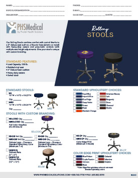Solutions Rolling Stools Data Sheet
