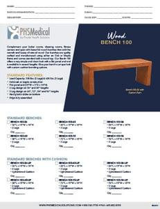 Wood Bench 100 Data Sheet