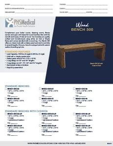 Wood Bench 300 Data Sheet