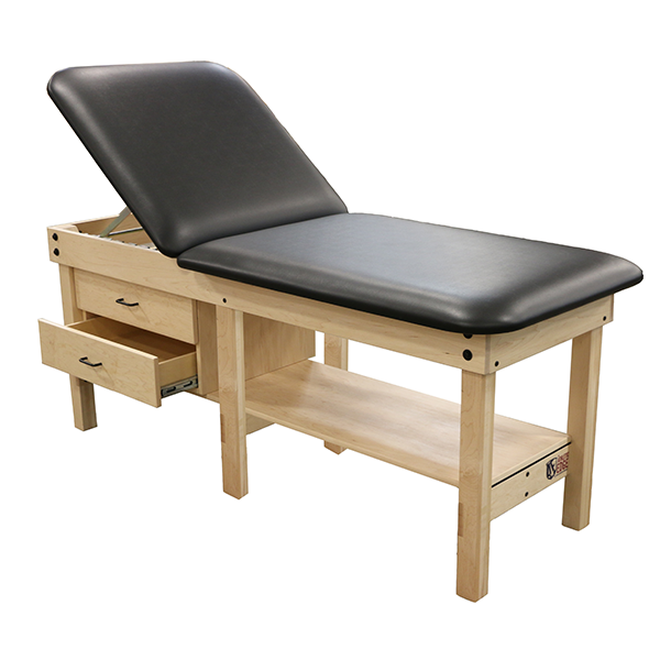Classic 6 Leg Wood Treatment Table with Cabinet and Drawers