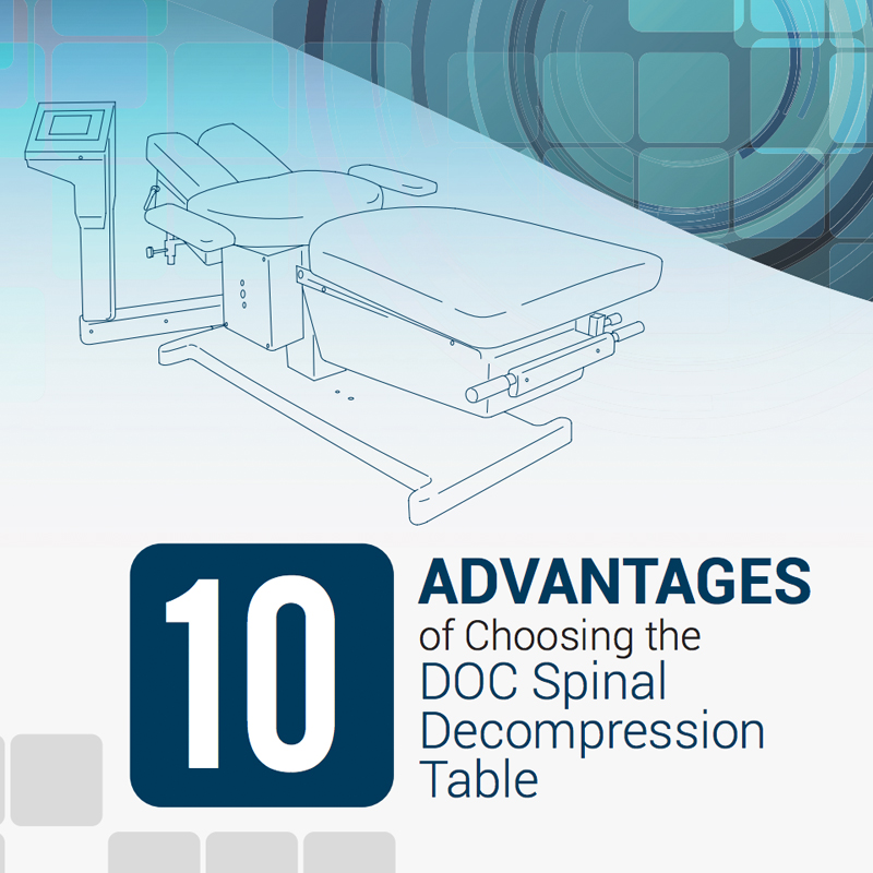 10 Advantages of Choosing DOC Spinal Decompression Table with DOC line drawing