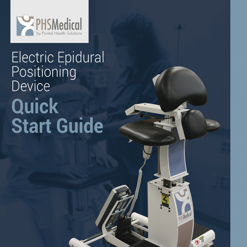 Electric Epidural Positioning Device Quick Start Guide with E-EPD