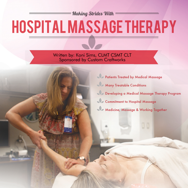 Hospital Massage Therapy Cover with Koni Sims massaging arm in hospital