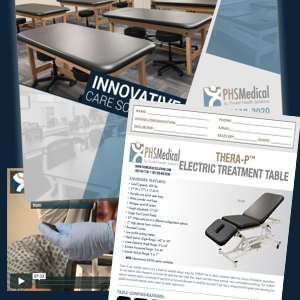 PHS Mdical catalog and Thera-P Electric Table Data Sheet