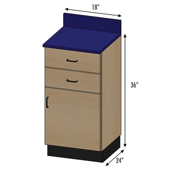 SEMCB-002-2D Base Cabinet