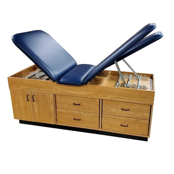 CAB-150 Treatment Cabinet wiht Ratchet Style Lift Back and Split Leg