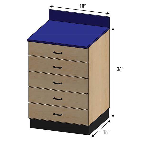 SEMCB-001-5D Base Cabinet